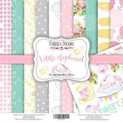 Набор бумаги 20x20 - Little elephant - Фабрика Декору