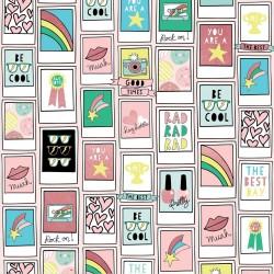 Лист бумаги Pink Polaroid - Good Vibes - MME