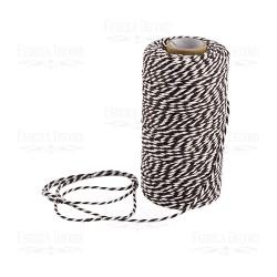 Хлопковый меланжевый шнур (белый с коричневым.) - 1 м