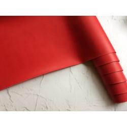 Кожзам переплётный (матовый). Красный