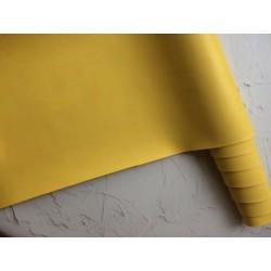 Кожзам переплётный (матовый). Жёлтый