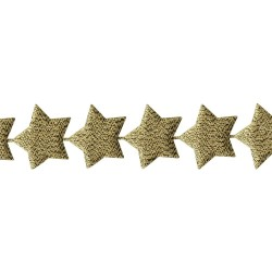 Лента (золотые звёзды), 45 см - May Arts