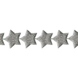 Лента (серебристые звёзды), 45 см - May Arts