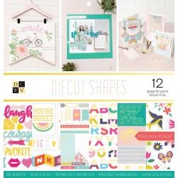 1/2 набора бумаги 30х30 - Diecut Shapes - DCWV