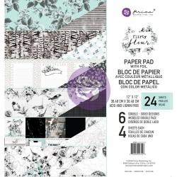 1/4 набора бумаги 30х30 (6 листов) - Flirty Fleur - Prima Marketing