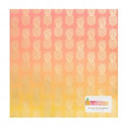 Кардсток Ombre Foil Print - Amy Tangerine