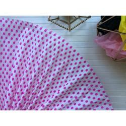 Бумага тишью (белая в розовый горох)