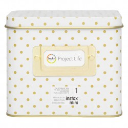 Коробка жестяная - Polka Dot - Project Life