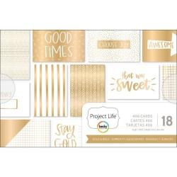 Карточки 10х15 (18 шт) - Gold & Bold - Project Life