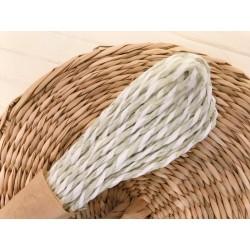 Шнур цветной (бело-серый), 1 м