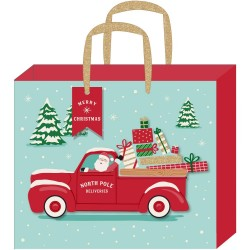 "Пакет подарочный 12.75""х10""х5"" - Santa Truck - American Crafts"