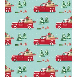 Бумага упаковочная 76х300 см - Santa Truck - American Crafts