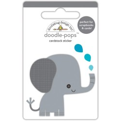 3D наклейка (слон) - Doodle-Pops 3D Stickers - At the Zoo - Doodlebug