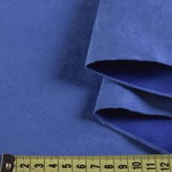 Замша иск. (тёмно-голубая), 25х30 см
