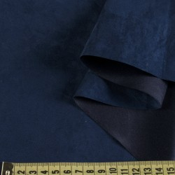Замша иск. тонкая (синяя), 25х30 см