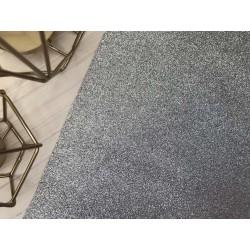 Ткань с мелким глиттером (серебро), 25х34 см