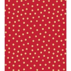 Бумага упаковочная (76х100 см) - Polka Dot-Gold Foil - American Crafts