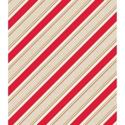 Бумага упаковочная (76х100 см) - Stripes-Gold Foil - American Crafts