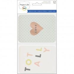 Набор карточек (12 шт) - BW Card Pack - Project Life