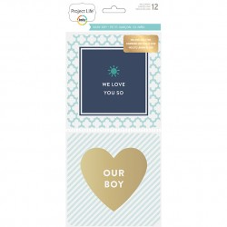Набор карточек 10х10 см (12 шт) - Baby Boy Edition - Project Life
