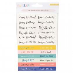 Наклейки-фразы (4 листа) - Hooray - Crate Paper