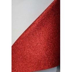 Ткань с мелким глиттером (красный), 25х34 см