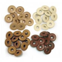 Люверсы Wide Eyelets (40 шт) – Aluminum Brown - WRMK