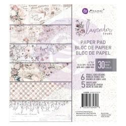 1/5 набора бумаги 15х15 см (6 листов) - Lavender Frost -  Prima Marketing