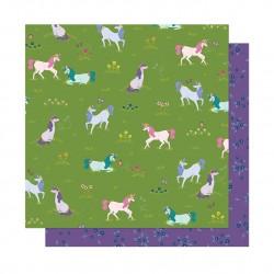 Лист бумаги Unicorn Crossing - Head In The Clouds - American Crafts