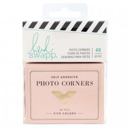 Уголки для фото, 40 шт (5 цветов) - Emerson Lane - Heidi Swapp