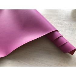 Кожзам переплётный (матовый). Ярко-розовый, 25х35 см