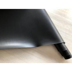 Кожзам переплётный (матовый с блеском). Чёрный, 25х35 см