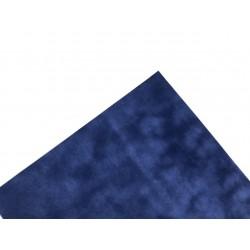 Бумага бархатная (150 г/м2) - синяя, 25х23 см