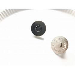 Кнопка магнитная 18х6 мм - серебро