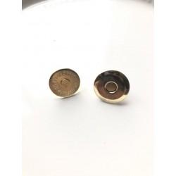 "Кнопка магнитная ""тарелочка"" 16х4 мм - золото"