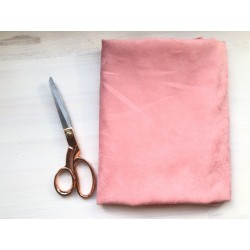 Замша Рига (на ткани), розовый
