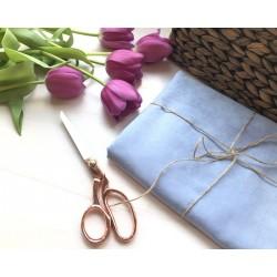 Замша Рига (на ткани), светло-голубой
