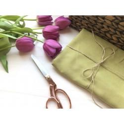 Замша Рига (на ткани), оливковый