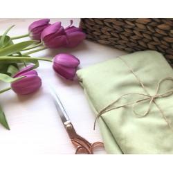 Замша Рига (на ткани), зеленая оливка
