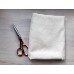 Замша Рига (на ткани), молочный