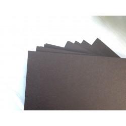 Дизайнерский картон (250 г) - шоколадный (22,5х21 см)