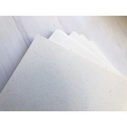 Дизайнерский картон (240 г) - кремовый, с ворсистым узором (22,5х21 см)