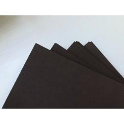 Дизайнерский картон (270 г) - чёрный (22,5х21 см)
