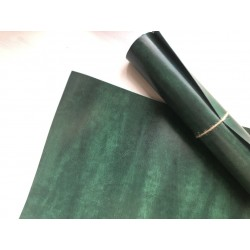 Кожзам переплётный (мраморный). Малахитовый, 25х35 см