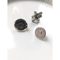 "Кнопка магнитная ""тарелочка"" 16х4 мм - серебро"