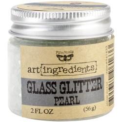 Глиттер 56 г - Sterling - Finnabair Art Ingredients Glass Glitter - Prima