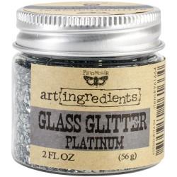 Глиттер 56 г - Platinum - Finnabair Art Ingredients Glass Glitter - Prima