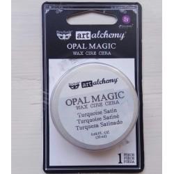 Воск - Turquoise Satin - Finnabair Art Alchemy Opal Magic Wax