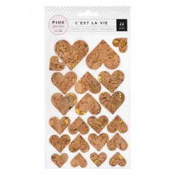 Пробковые сердечки - C'est La Vie - American Crafts