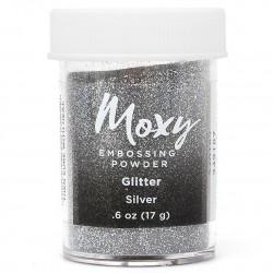 Пудра для эмбоссинга Moxy - Glitter Silver - American Crafts
